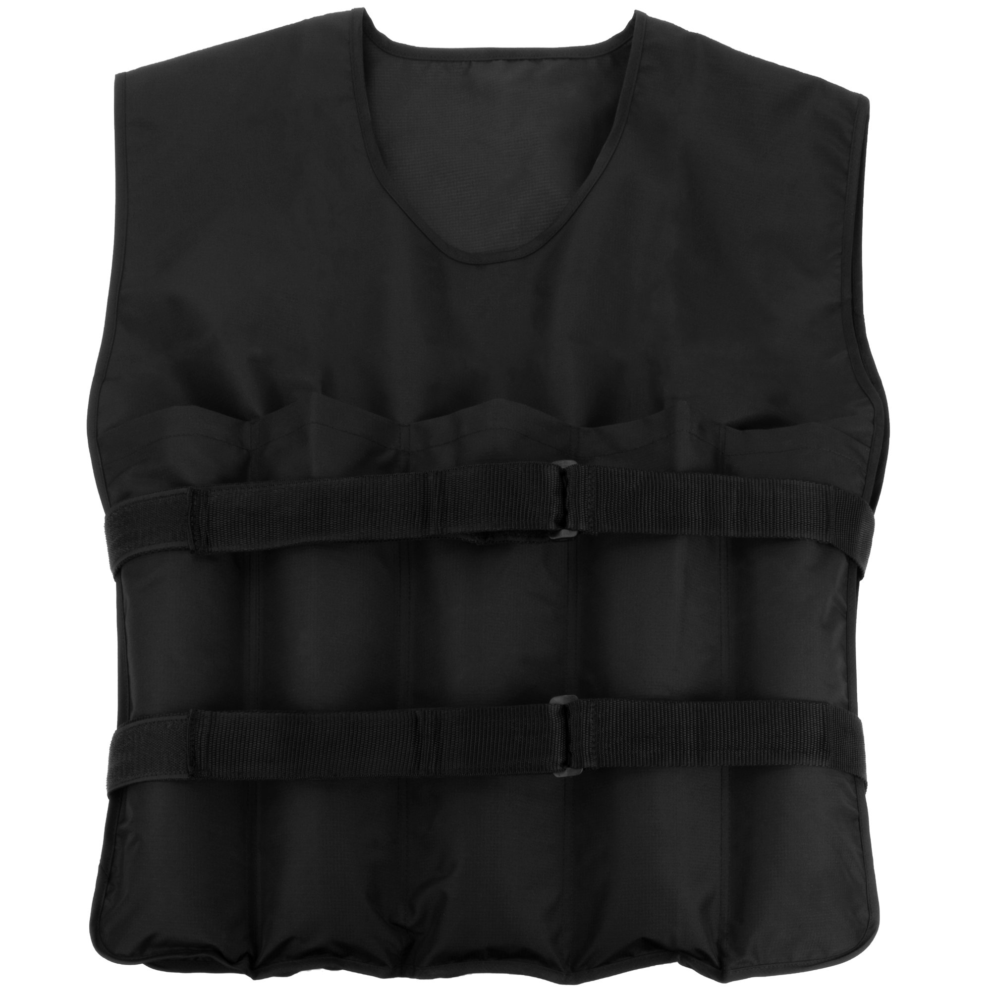 Crown Sporting Goods 9 kg (19.8 lbs) Strength Weighted Vest - Adjustable Weight Jacket for Resistance Training with 10 Additional 1 lb. Weights by Crown Sporting Goods