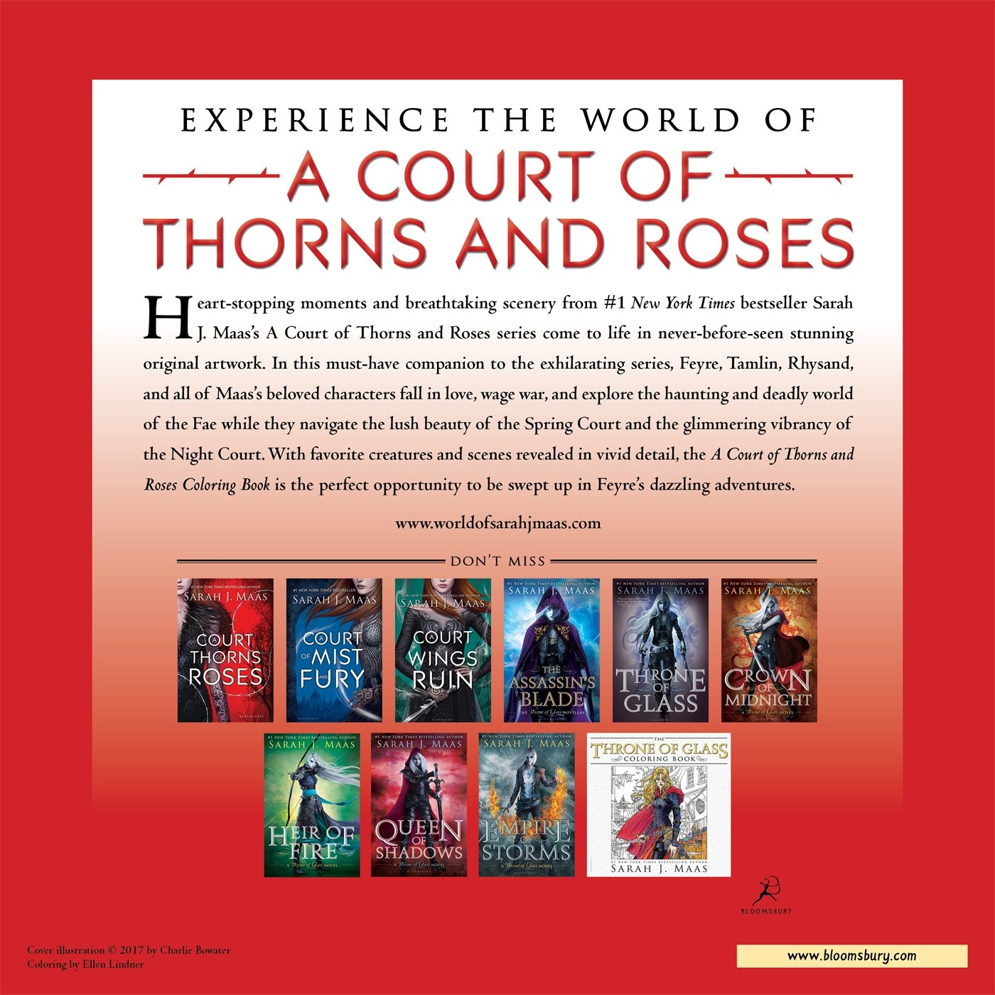 amazon com a court of thorns and roses coloring book