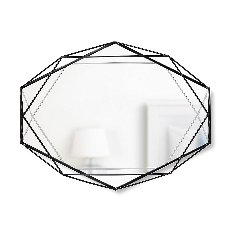 umbra ウォールミラー PRISMA MIRROR(プリズマ ミラー) ブラック 2358776040 B01ANF7Q94 ブラック ブラック