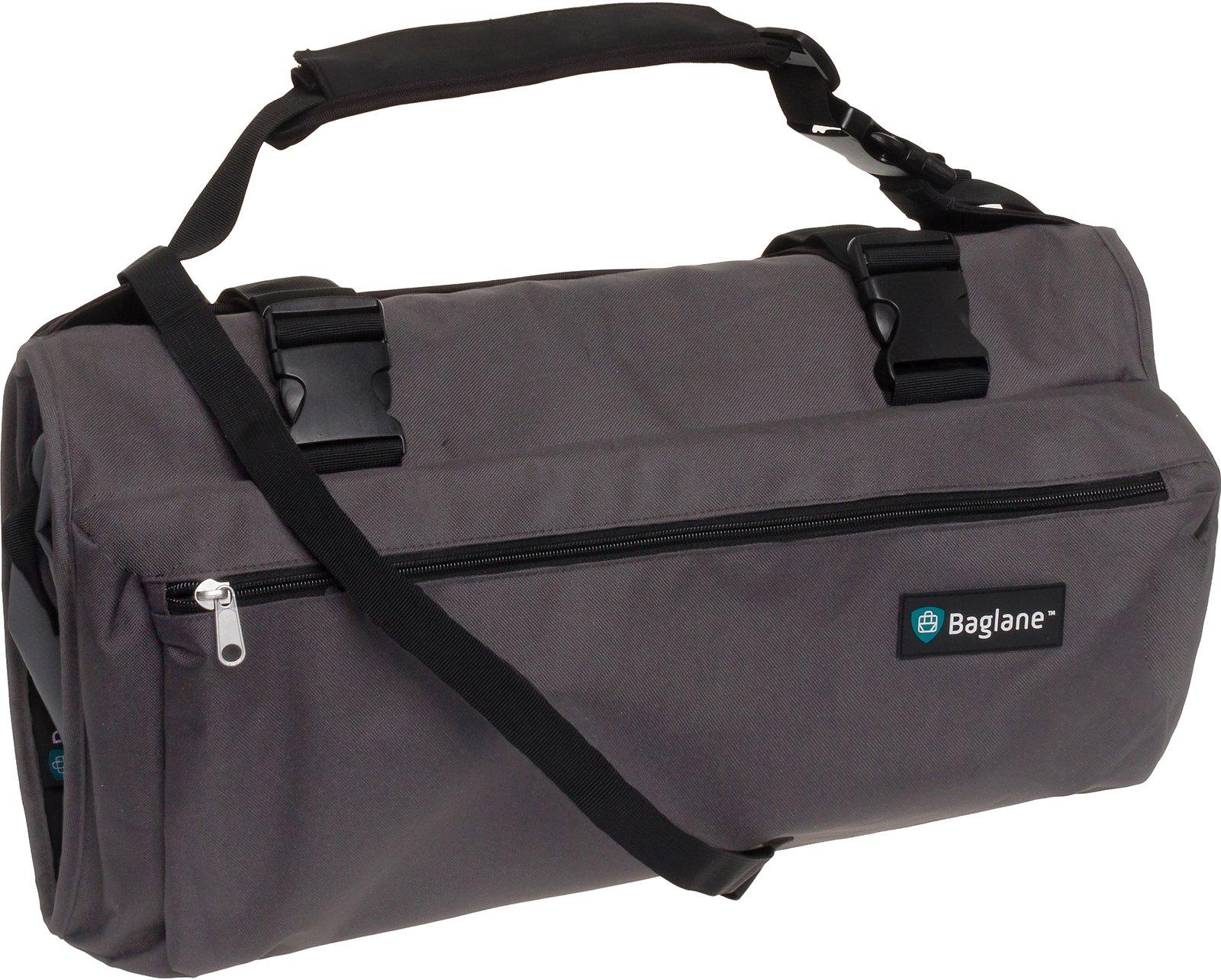 Baglane Garment Suit Bag by Travel Carry On Garment Bag (Grey)