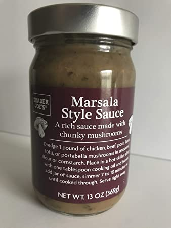 Trader Joe's - Marsala Style Sauce - A Rich Sauce Made With Chunky Mushrooms 13 OZ (369 g)
