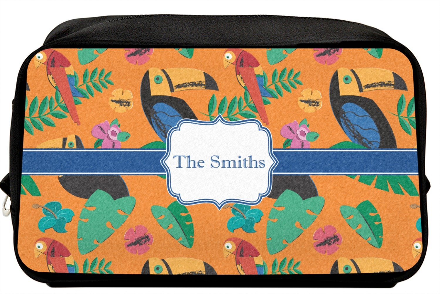 Personalized Parrots /& Toucans Genuine Leather Front Pocket Wallet