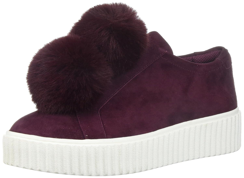 The Fix Women's Talon Slip-on Poms Fashion Sneaker B072V81JMM 8.5 B(M) US|Wine Suede