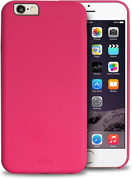 PURO IPC647STOUCHPNK Cover Soft Touch per iPhone 6/6s, Rosa