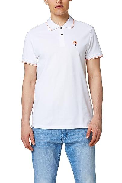 edc by Esprit 058cc2k020, Polo Hombre, Blanco (White 100), Large ...
