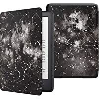 MoKo Case Fits All-New Kindle (10th Generation - 2019 Release Only), Thinnest Protective Shell Cover with Auto Wake/Sleep, Will Not Fit Kindle Paperwhite 10th Generation 2018 - Nebula Map