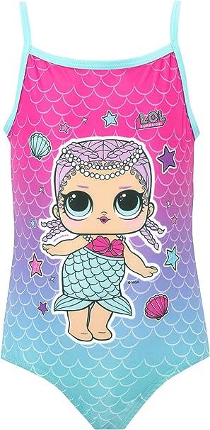 LOL Surprise Girls Merbaby Swimsuit Blue 4 to 5 Years
