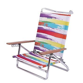 wejoy cmoda ligera plegable fuerte silla para camping playa festivales rainbow