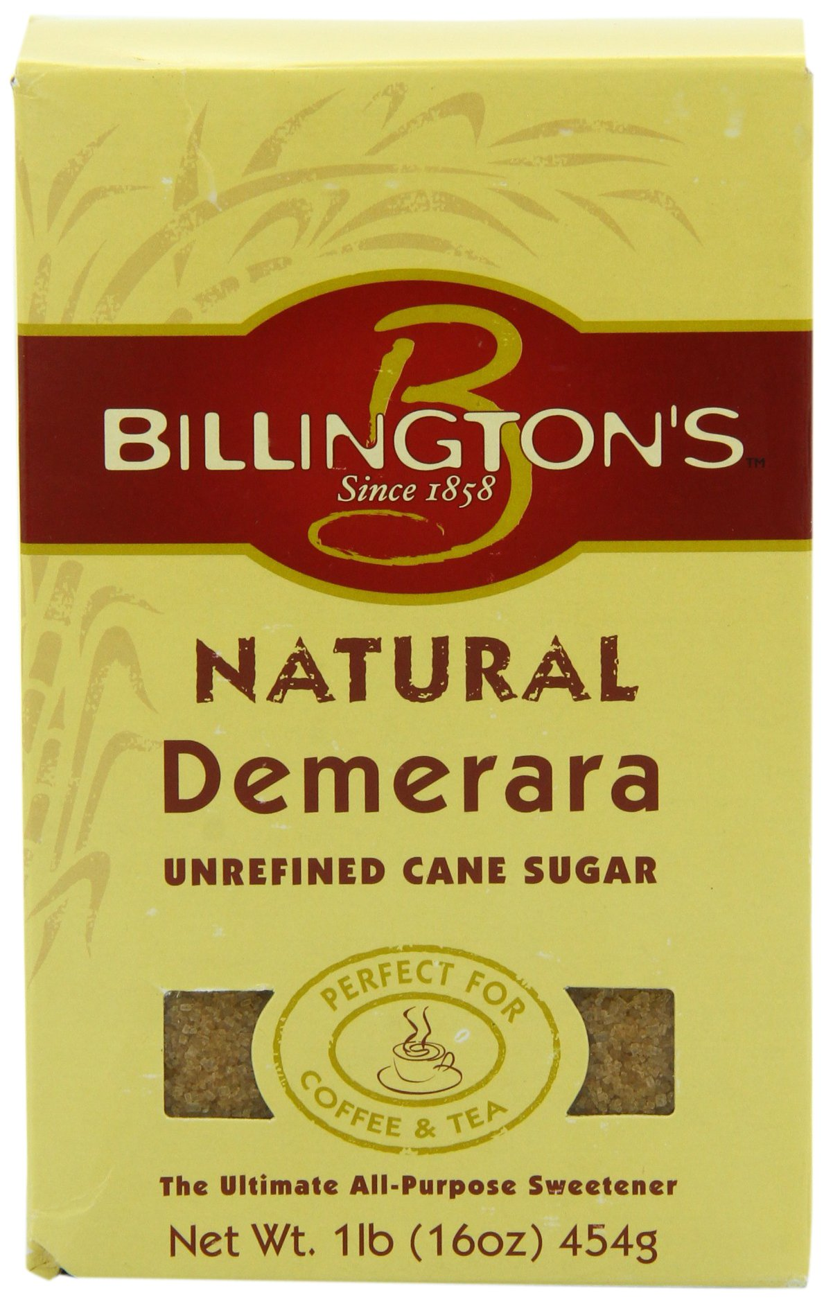 Billington's Natural Demerara, 16 oz. (Pack of 10)