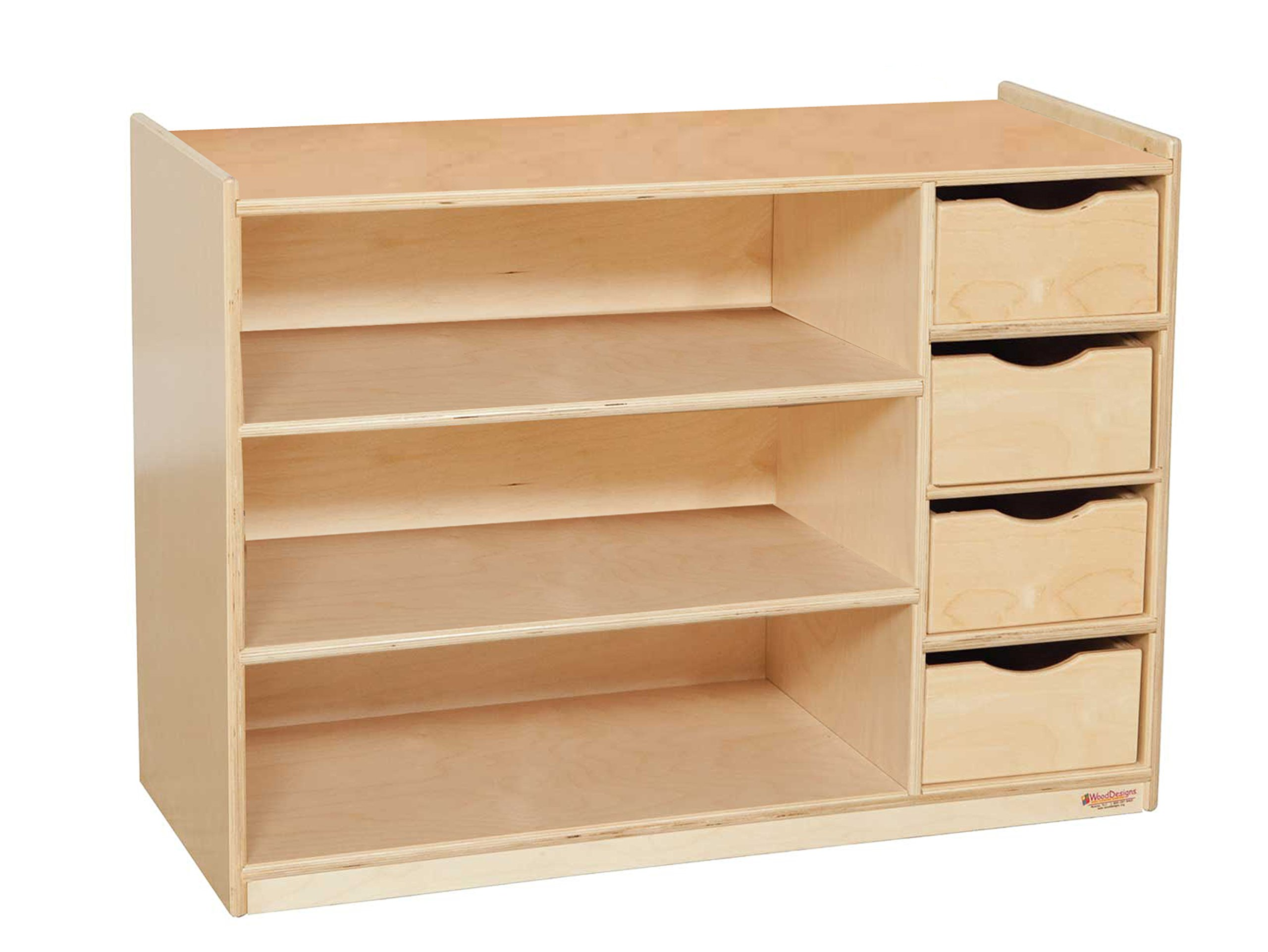 Wood Designs WD14475 Storage Center with Drawers, 26 x 36 x 15'' (H x W x D)