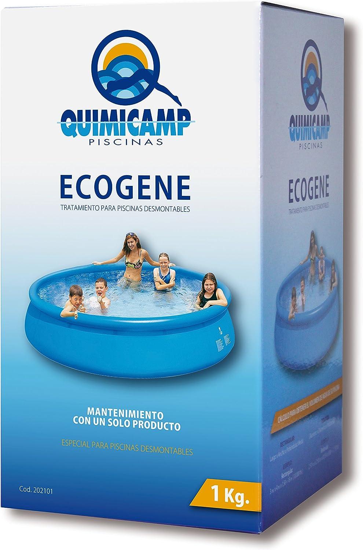 Quimicamp - Ecogene tratamiento piscinas elevadas, tamaño 1l: Amazon.es: Bricolaje y herramientas