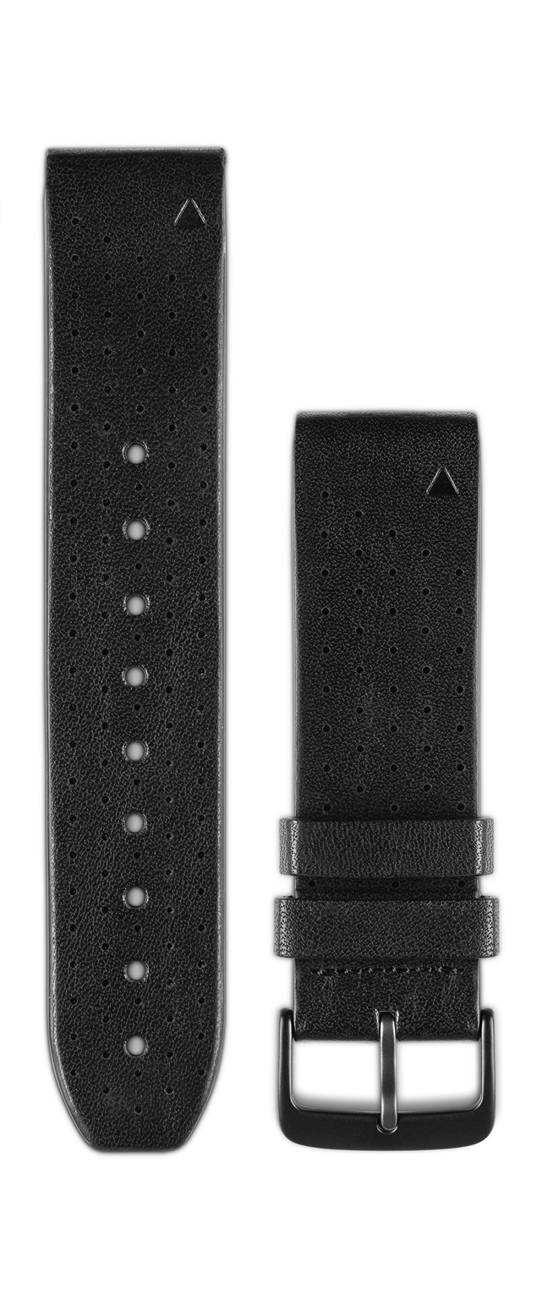 Garmin 010-12500-02 Quickfit 22 Watch Band - Black Perforated Leather - Accessory Band for Fenix 5 Plus/Fenix 5 by Garmin (Image #1)