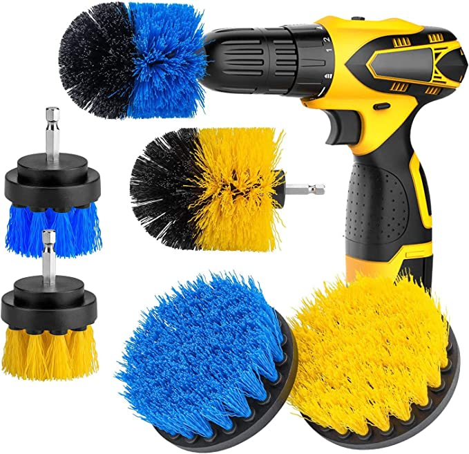 Amazon Com 6 Pcs Drill Brush Attachment Set Power Scrubber Brushes Cleaning Kit For Bathroom Surfaces Tub Shower Tile And Grout Kitchen Dining