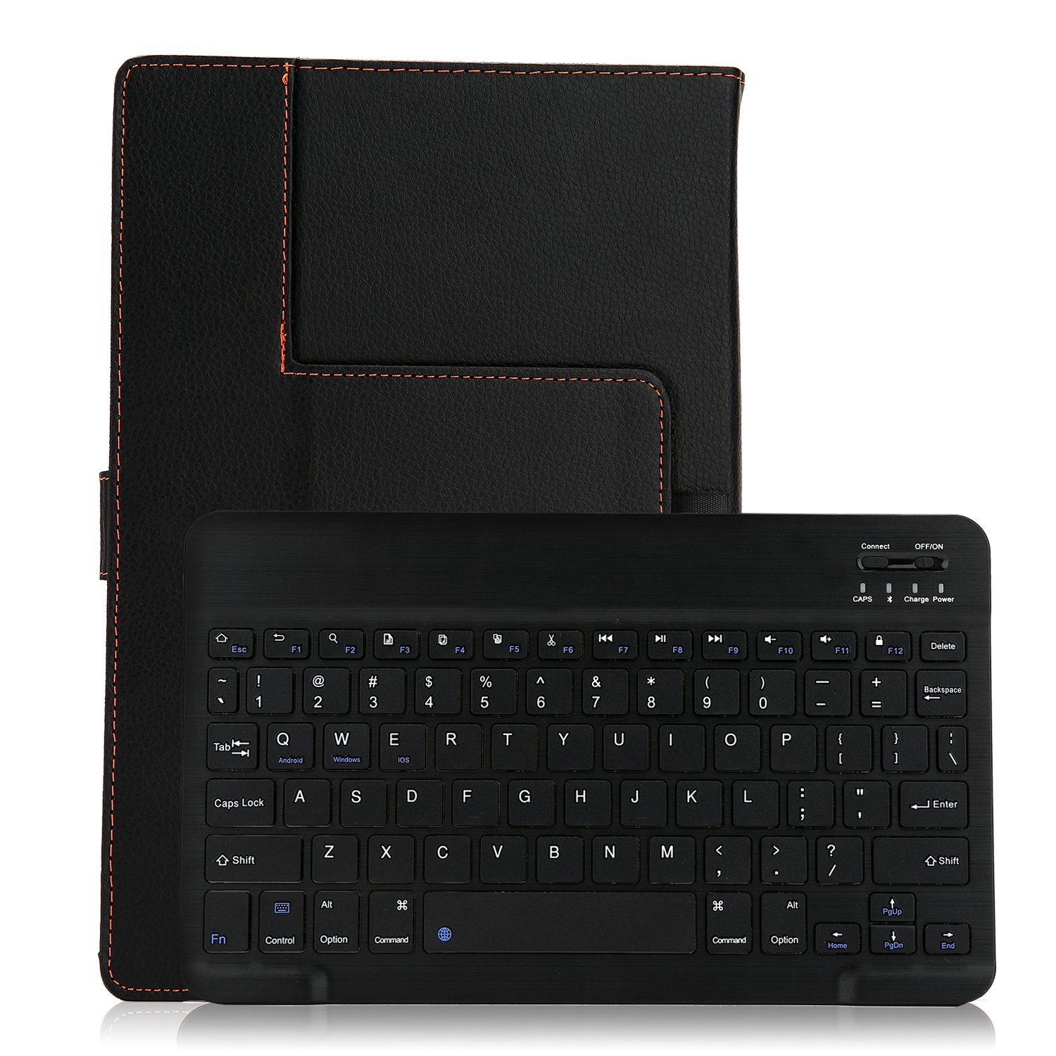 Vacio PU Leather Smart Case Stand Folio Cover with Detachable Wireless Bluetooth Keyboard 9-10.1 inch Android Microsoft for Xiaomi Huawei Apple Samsung Lenovo ASUS LG Toshiba 9-10.1-inch Tablet PC by Vacio