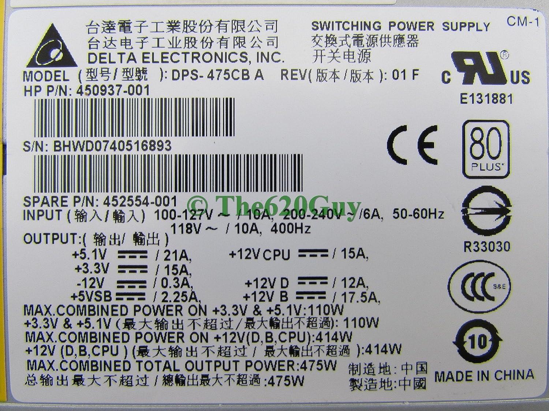 Amazon.com: HP XW4600 WS 475W Power Supply 80 PLUS Certified 450937 ...