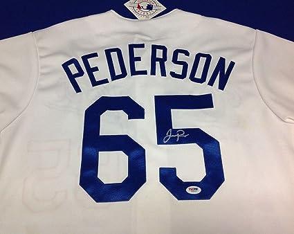 huge selection of 401ba 868c6 Joc Pederson Autographed Jersey - Majestic # R96663 - PSA ...