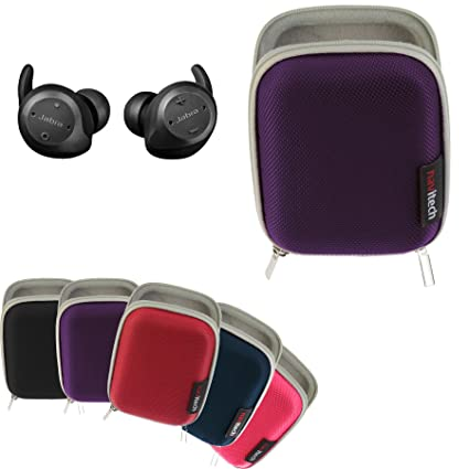 12f01af53b8 Navitech Purple Hard Carry/Storage Case for The Jabra Elite Sport True  Wireless Earbuds: Amazon.ca: Cell Phones & Accessories