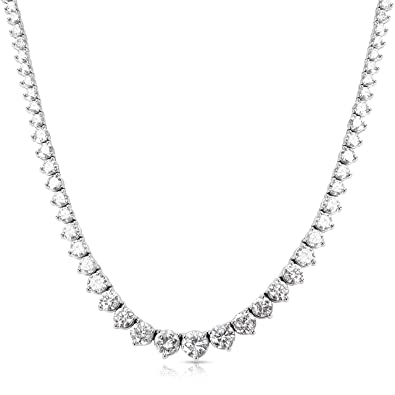 181fa1912f8be Image Unavailable. Image not available for. Color  BRAND NEW Diamond  Riviera Tennis Necklace in 14k White Gold ...