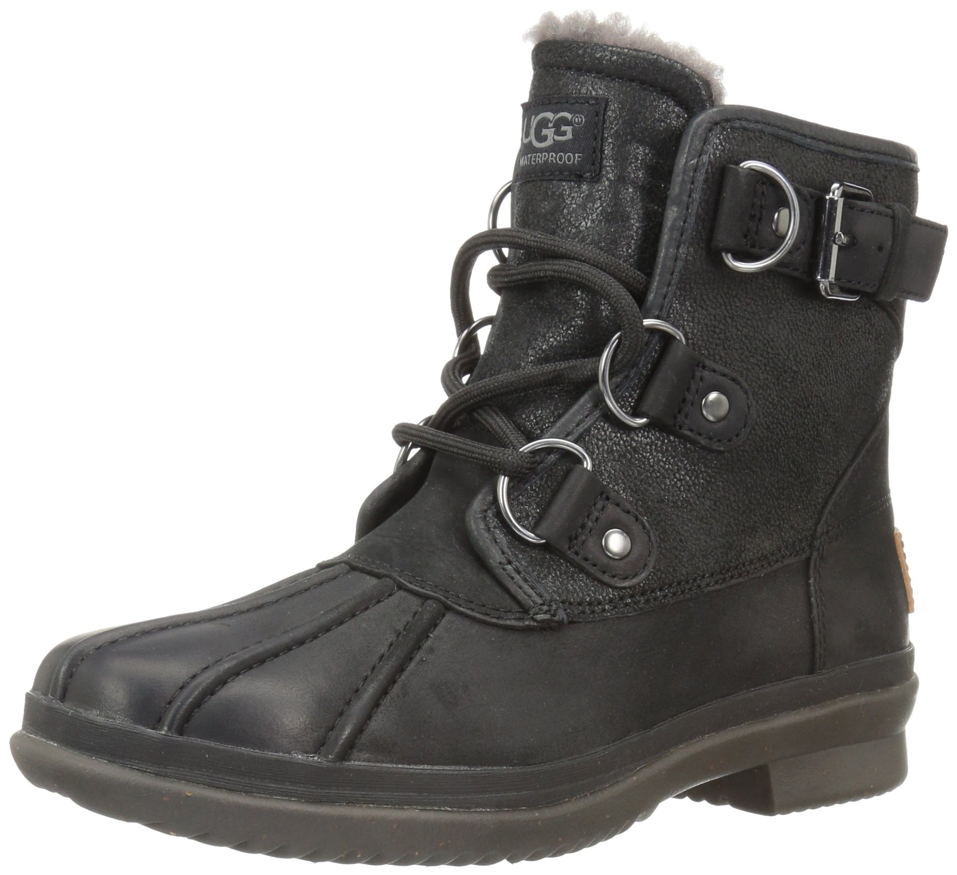 UGG Women's Cecile Winter Boot, Black, 5 B US