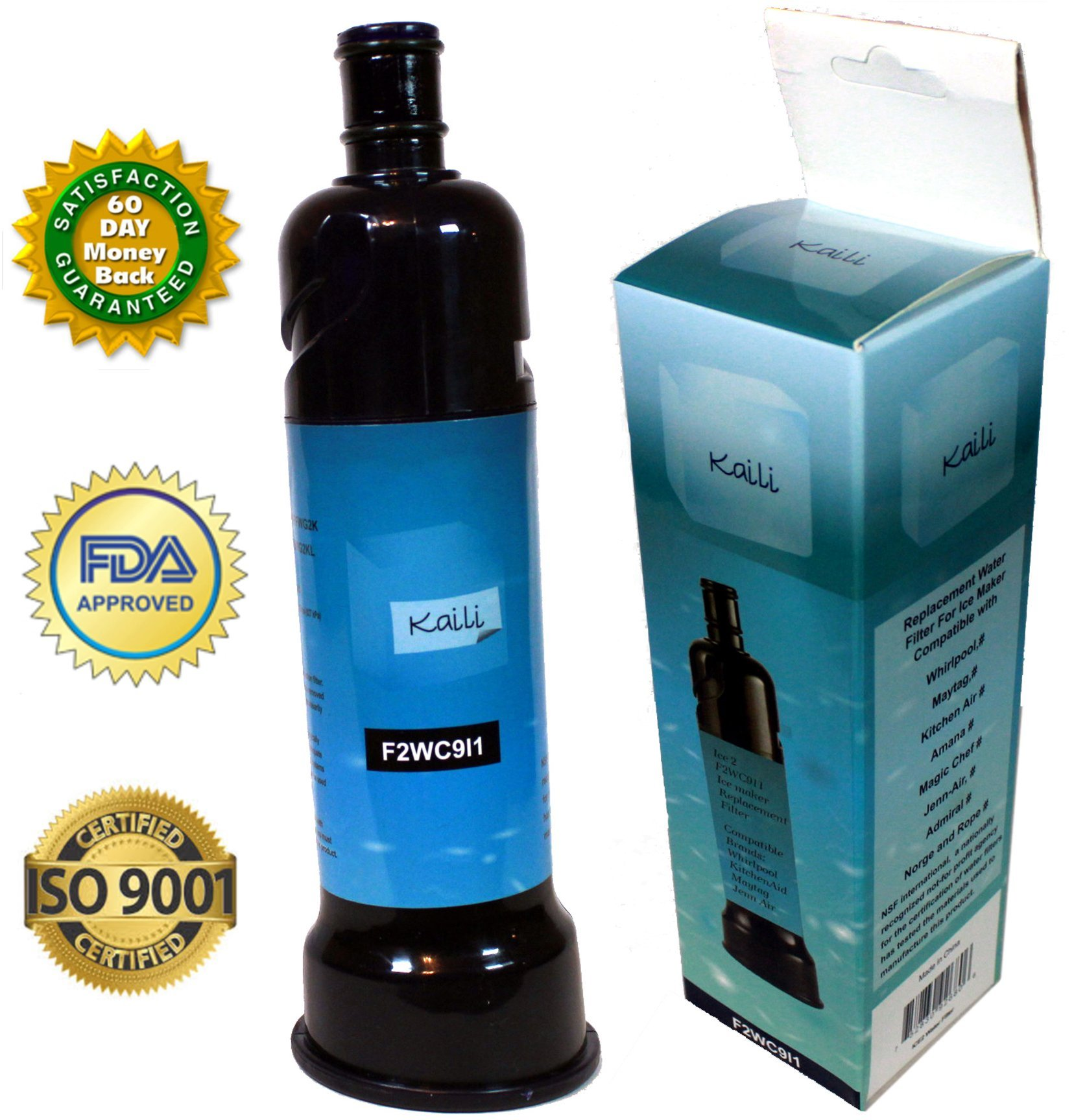 ICE2 F2WC9I1 Certified Refrigerator Ice Maker Filter by Kaili ...