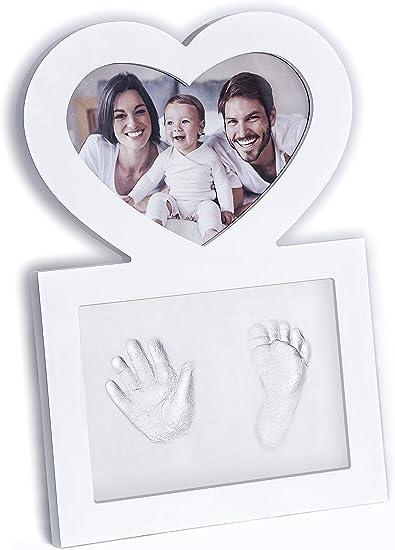 Baby Hand Print /& Empreinte Photo Cadre Blanc Kit baby shower ou Cadeau de Noël