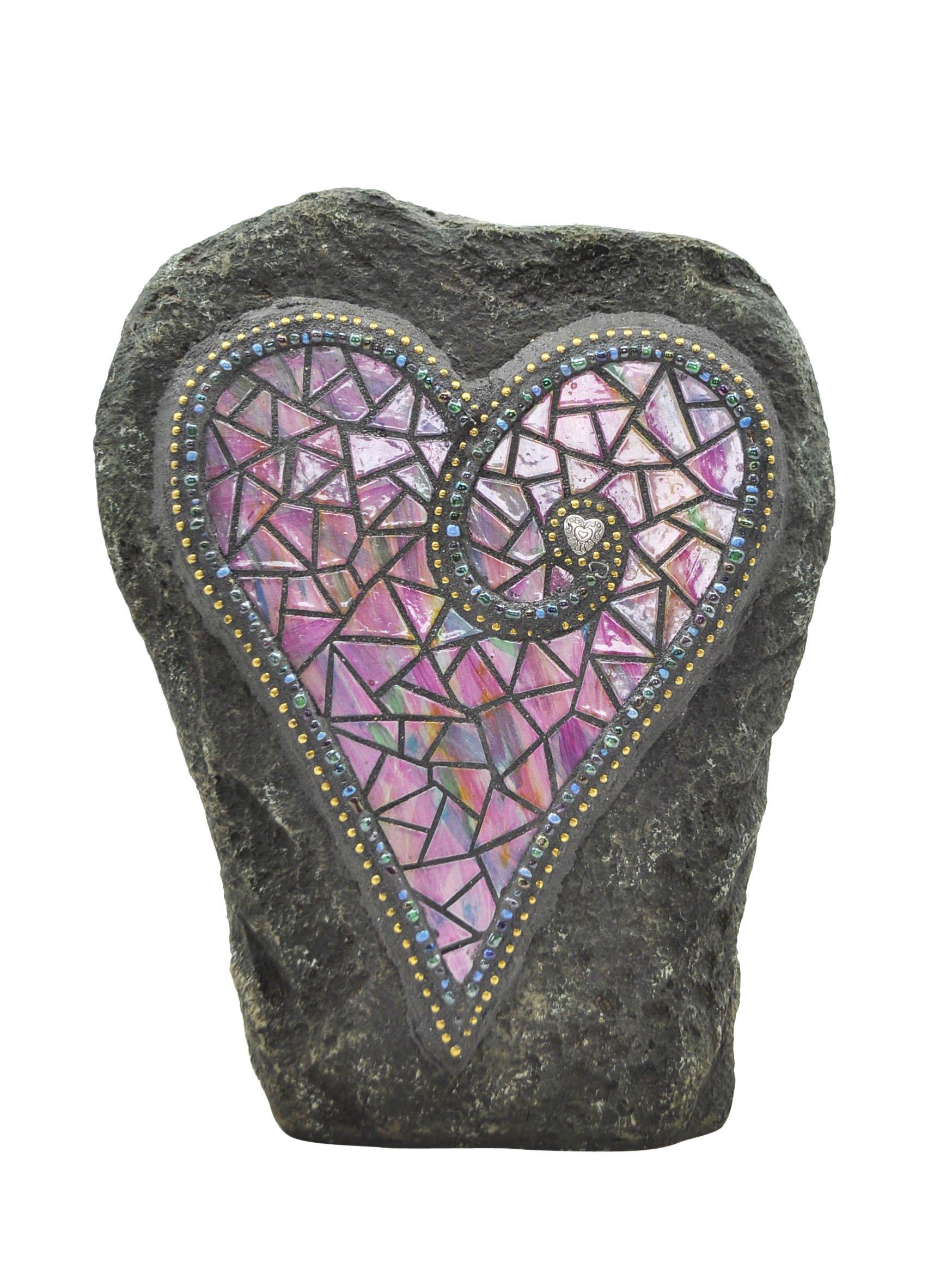 Moonrays 92497 Solar Powered White LED Chris Emmert Designs - Pink Heart