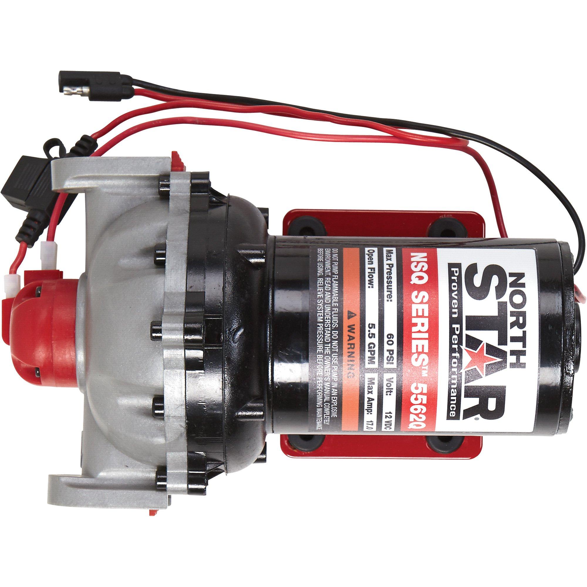 NorthStar NSQ Series 12V On-Demand Sprayer Diaphragm Pump - 5.5 GPM @ 60 PSI