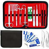 30 Pcs Advanced Biology Lab Anatomy Medical Student Dissecting Kit Set with Scalpel Knife Handle Blades Ideal for…