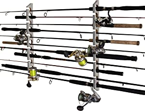 Rush Creek Creations Fishing Rod/Pole Storage Wall/Ceiling Rack