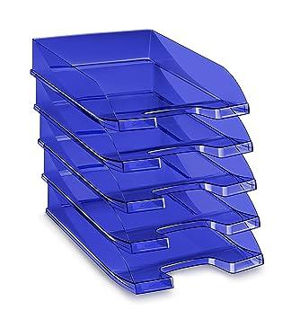 CEP 100 F T - Pack de 10 bandejas portadocumentos, color tonic azul