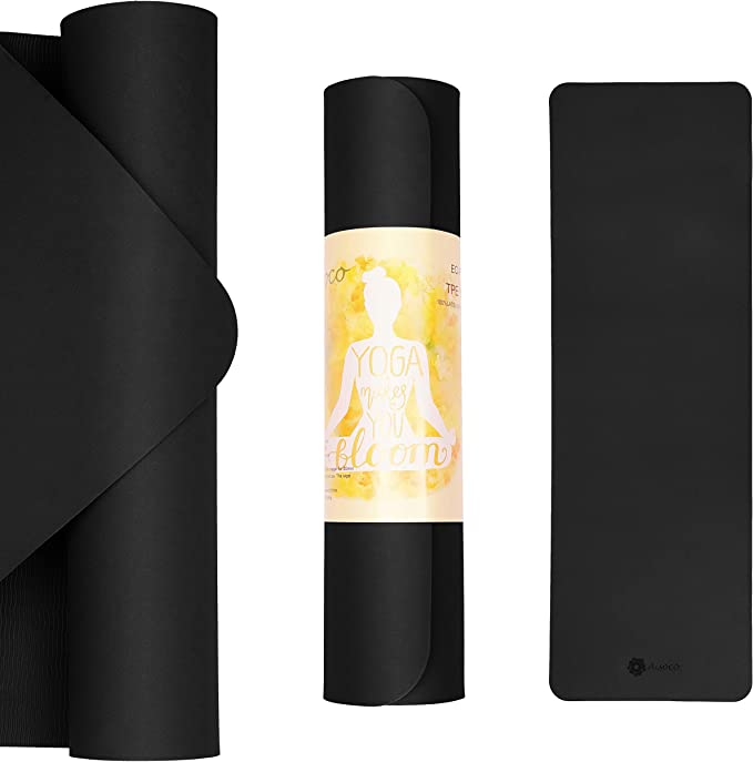 Amazon.com: Aisoco Premium TPE Yoga Mat Pilates Mat - Eco ...