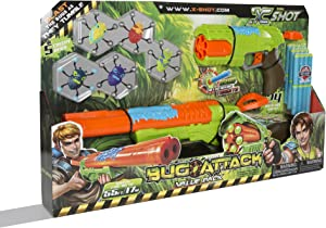 U.S. Toy Bug Attack Combo Rapid Eliminator Dart Gun Target Game