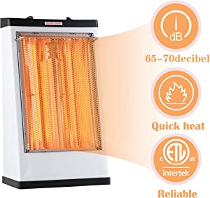DONYER POWER Electric Radiant Heater,Quartz Tube Heater,1500W,White,Living Room Space Heating