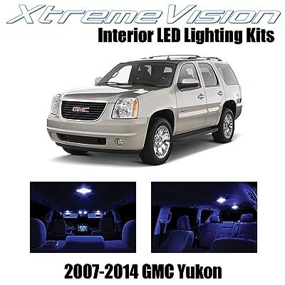 Xtremevision Interior LED for GMC Yukon 2007-2014 (12 Pieces) Blue Interior LED Kit + Installation Tool: Automotive