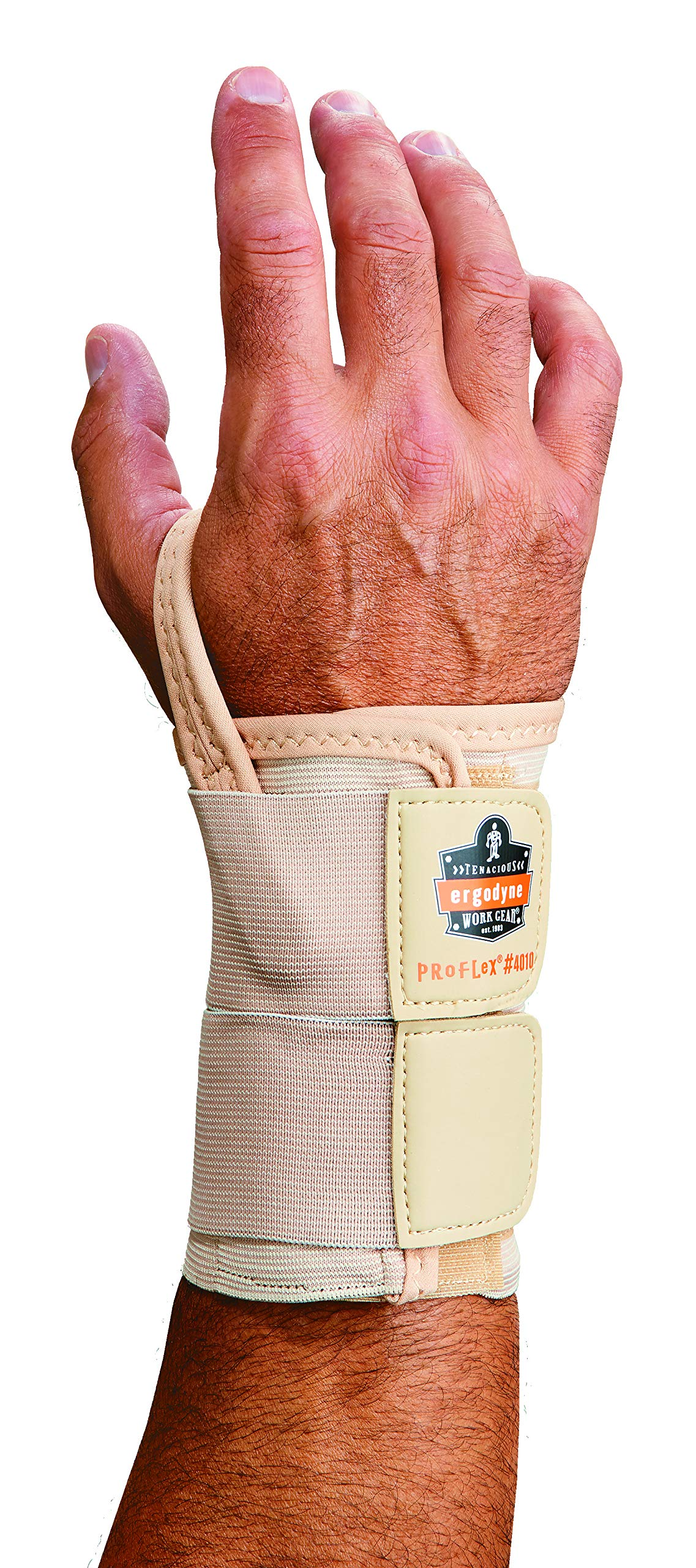 Ergodyne ProFlex 4010 Double-Strap Left Wrist Support, Tan, Large