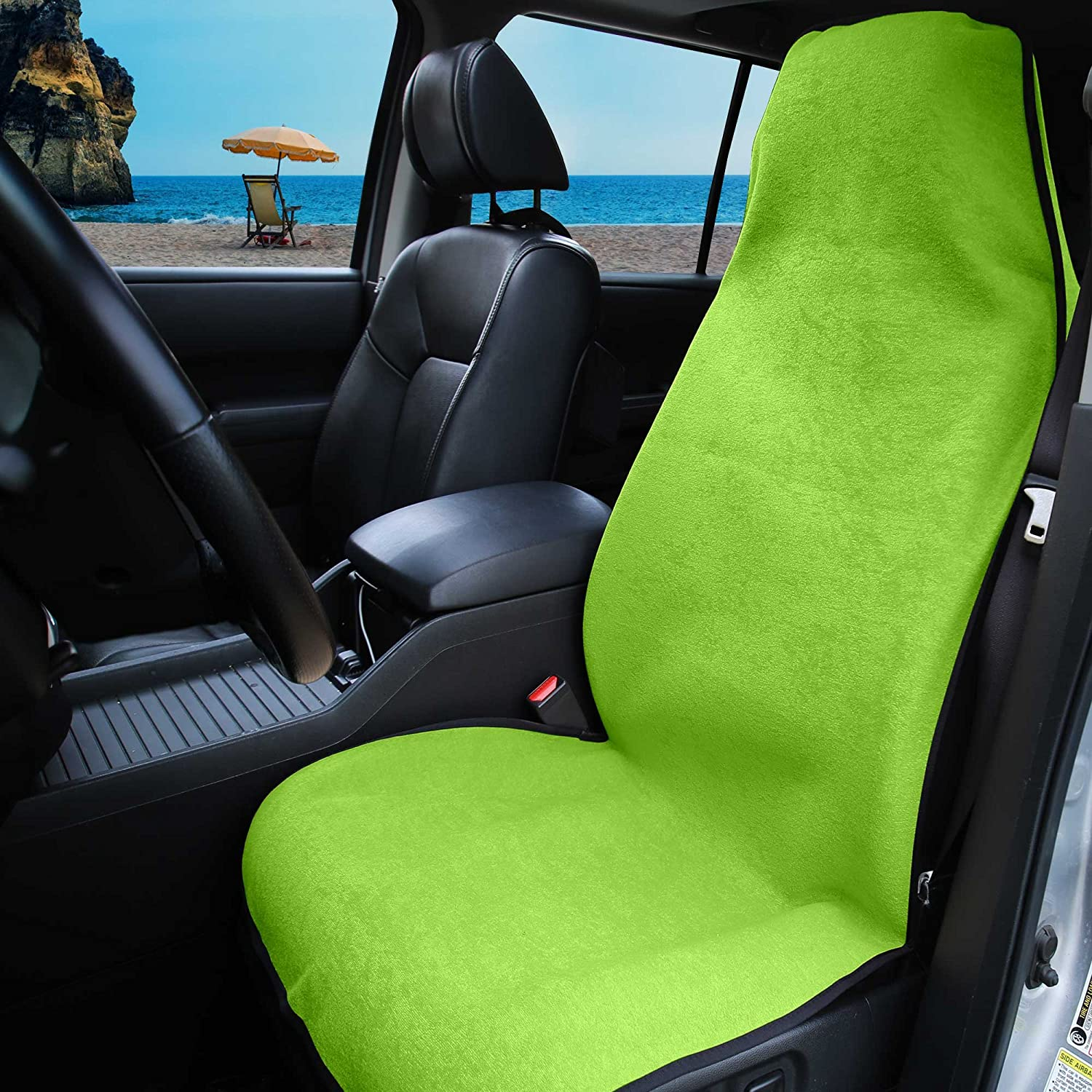 FH Group FH1006 Multifunctional Beach, Fitness Towel Car Seat Cover (Green) One Cover – Universal Fit for Cars, Trucks & SUVs