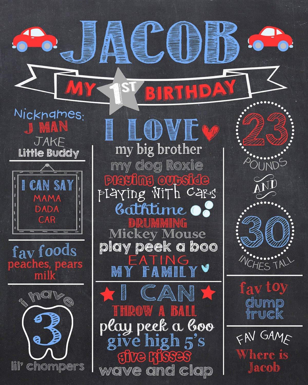 Dozili - Cartel Personalizado para el Primer cumpleaños ...