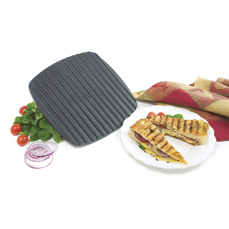 Norpro Italian Panini Sandwich Press And Steak Chicken Grill Cast Iron New 963