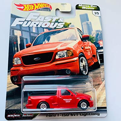 Hot Wheels Premium 2020 Motor City Muscle F&F, red Ford F-150 SVT Lightning: Toys & Games