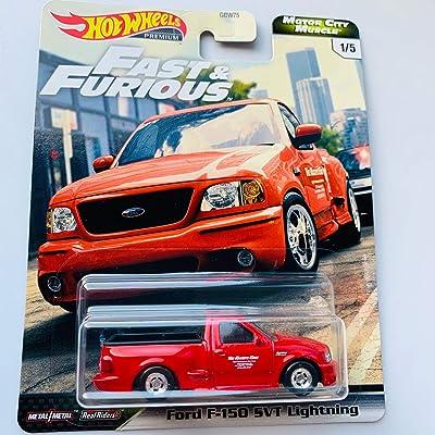 Hot Wheels Premium 2020 Motor City Muscle F&F, red Ford F-150 SVT Lightning: Toys & Games [5Bkhe1106437]
