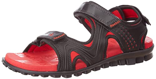 40b634f3c72cb Reebok Men s Reeflex Black and red Rush Flip-Flops and House Slippers - 6 UK