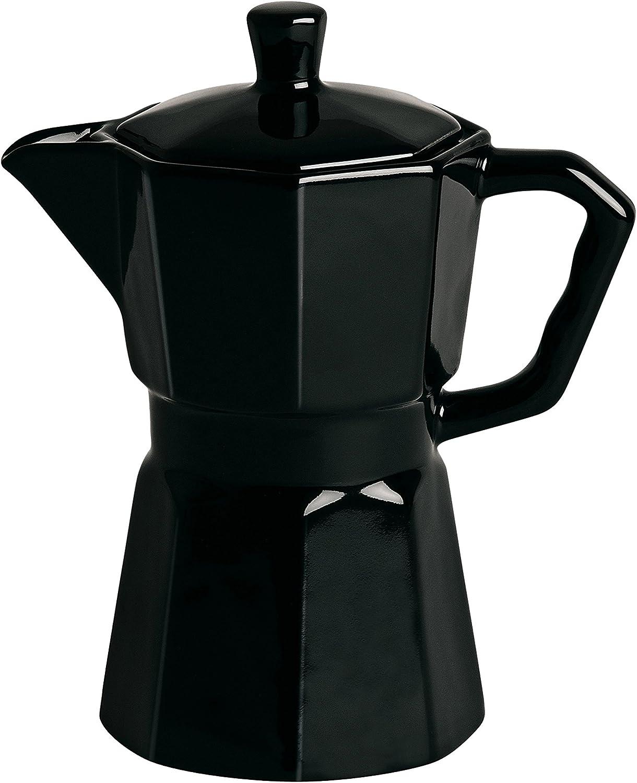 Cafetera en porcelana negra Estetico Quotidiano Seletti: Amazon.es ...