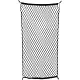 """ABN Cargo Net with Fasteners and Hardware, 24"""" x 45"""" Inch (Stretches to 60"""" Long) – Trailer, SUV, Motorcycle, ATV, Roof"""