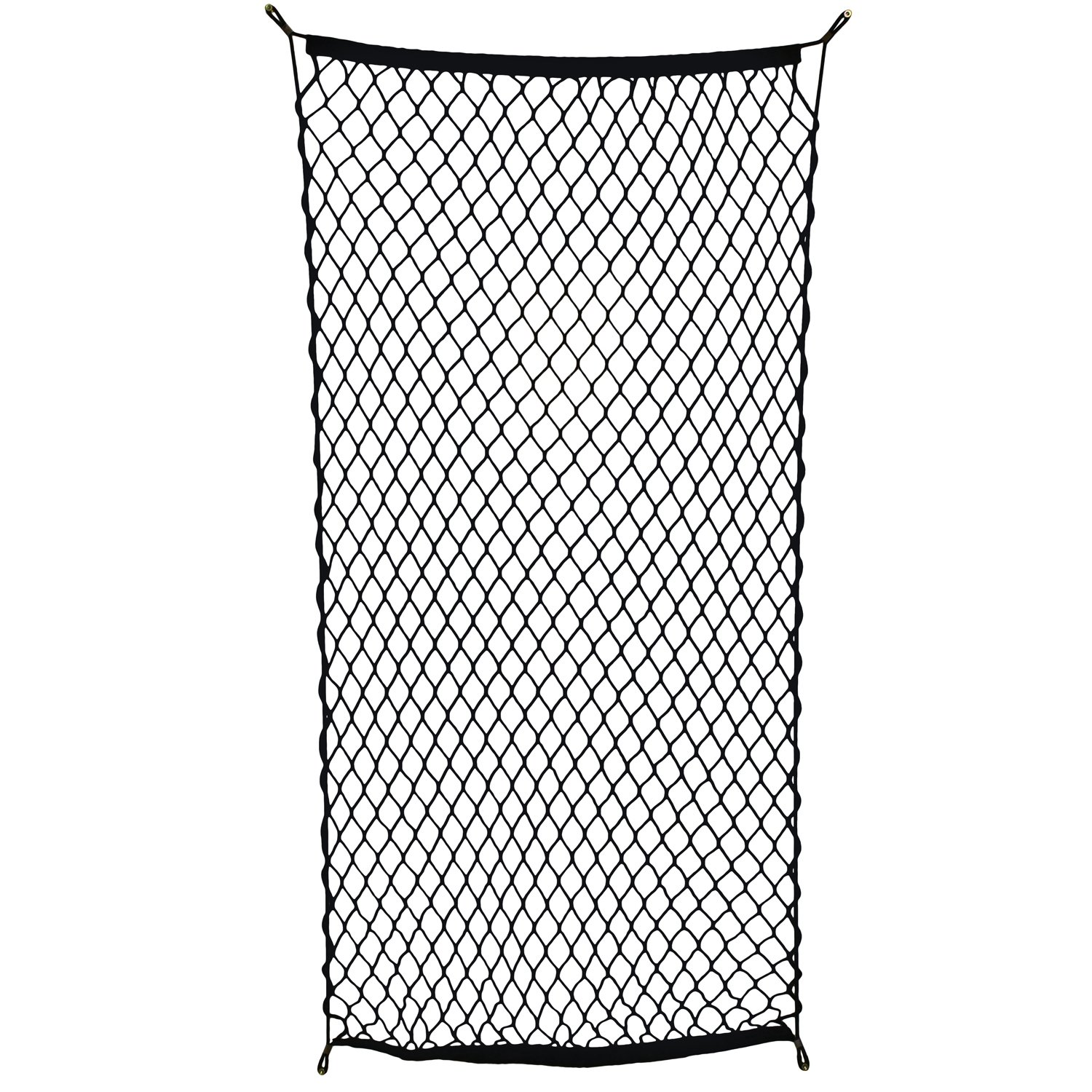 "ABN Cargo Net with Fasteners and Hardware, 24"" x 45"" Inch (Stretches to 60"" Long) – Trailer, SUV, Motorcycle, ATV, Roof 4332990158"
