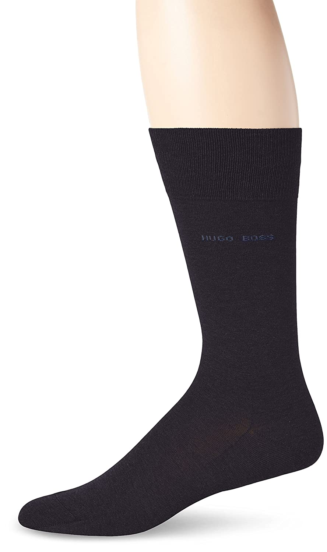 HUGO BOSS Men's Paul Solid Mercerized Crew Sock Black 7-13/Shoe Size 6-12 HUGO BOSS Men's Socks 50289895
