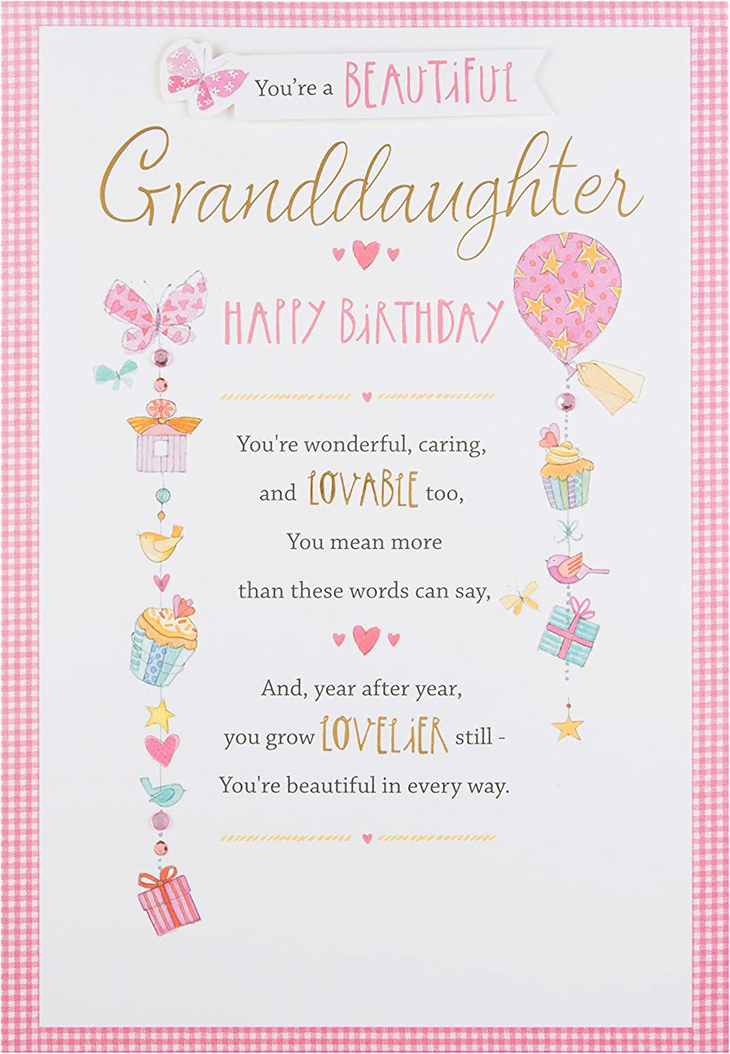 Standard Size Birthday Cards Granddaughter Greeting Cards & Party ...
