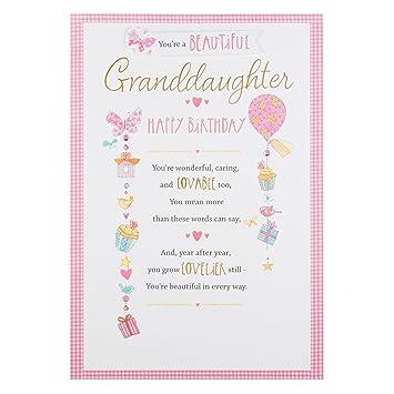 Hallmark Granddaughter Birthday Card Lovable