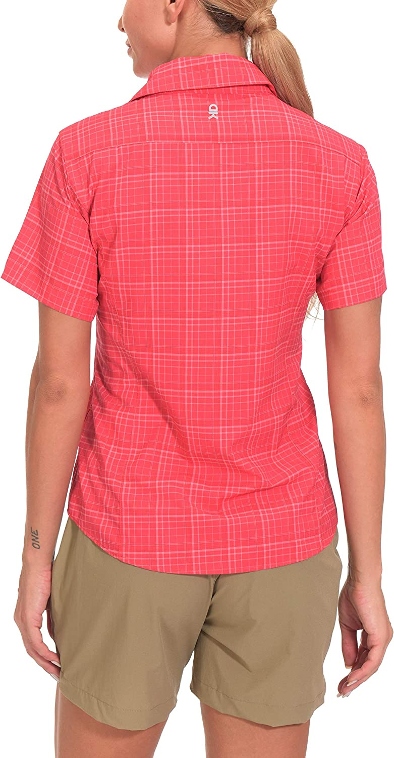 Lightweight Shirt for Hiking Travel Fishing Little Donkey Andy Women/'s Quick-Dry UV Protection Short Sleeve Shirt