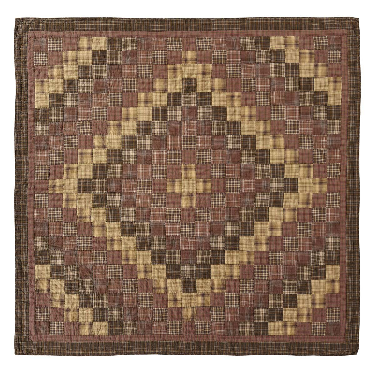 VHC Brands Rustic & Lodge Bedding - Prescott Brown Quilt, Queen