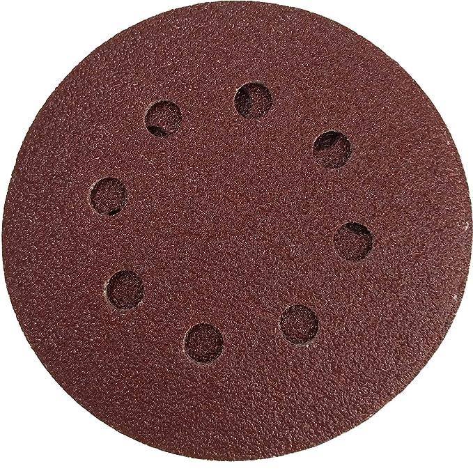 1 opinioni per 60 pz Dischi Abrasivi 125 Velcro 8 Fori Grana 60/80/120/180/240/320 Eccentrica